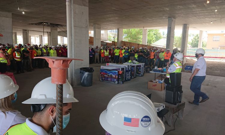 topping-out ceremony FIRST